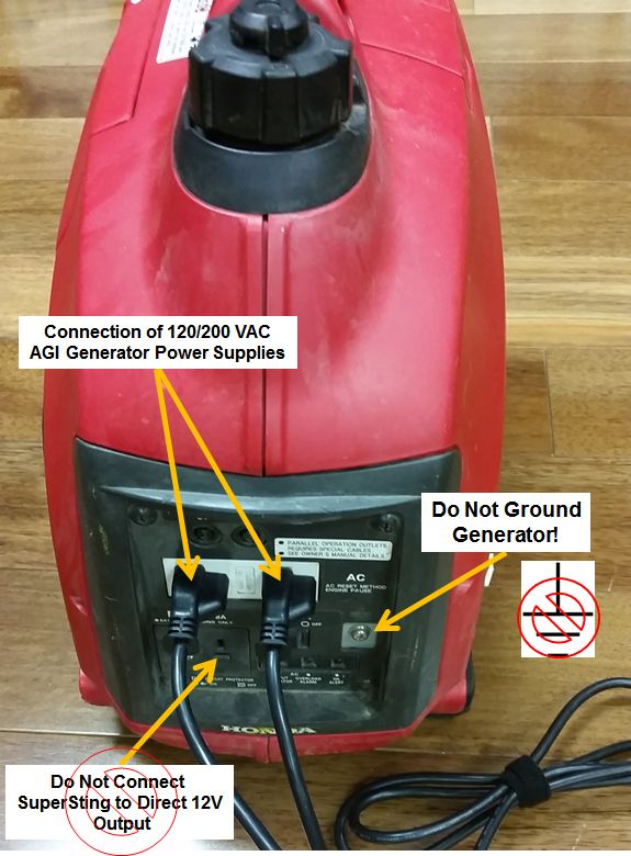 Do Not Attach Optional Grounding to Generator