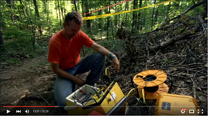 SuperSting Electrical Resistivity Imaging PBS Death on the Railroad burial site