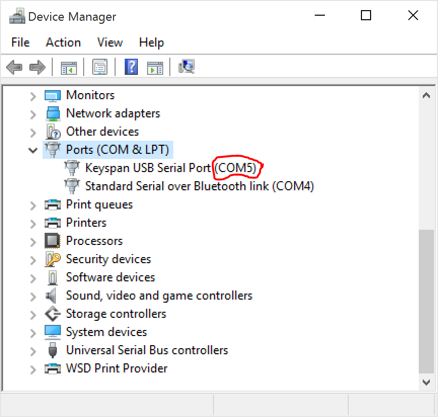 SuperSting Resistivity Instrument SSAdmin Device Manager COM Port Setting