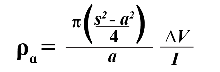 Schlumberger Array Formula