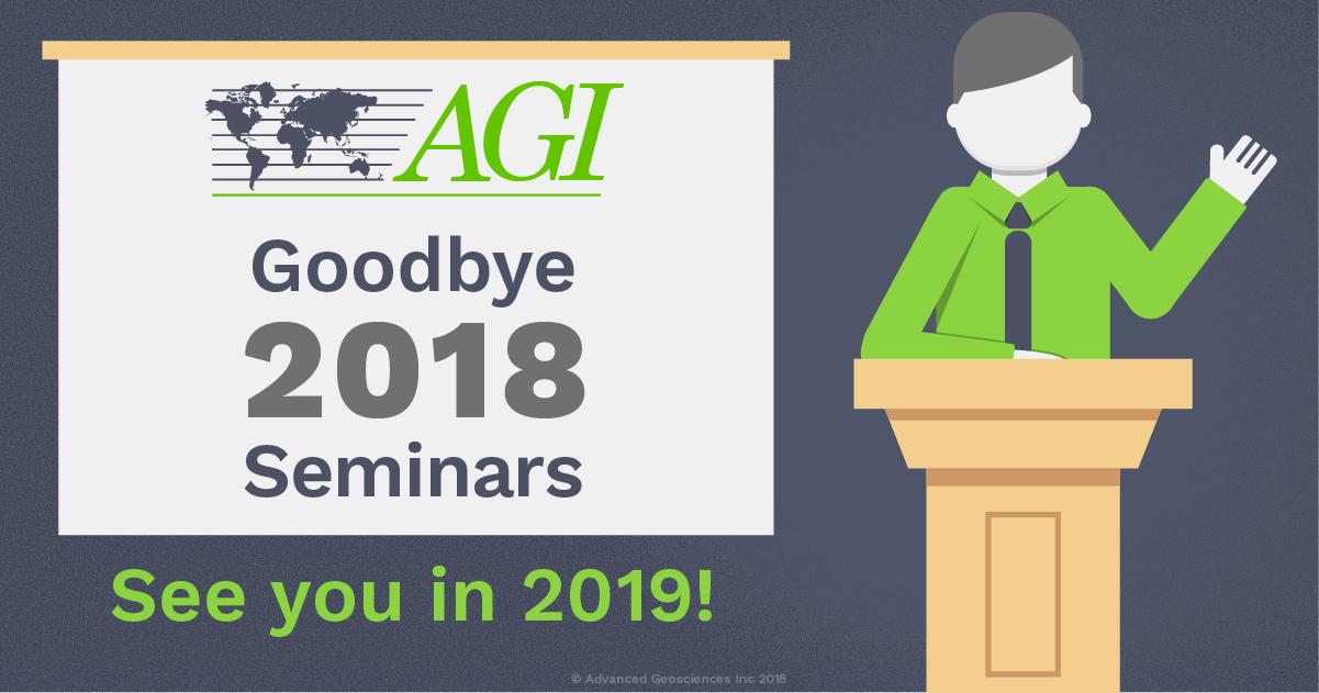 Goodbye 2018 Seminars. See you in 2019!