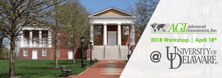AGI hosting workshop at Univ. of Delaware 4.18.18