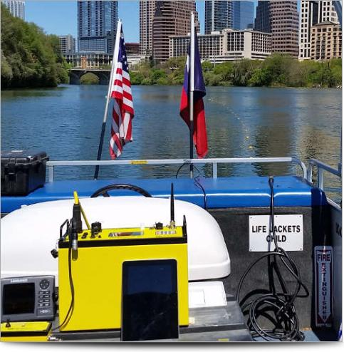 Advanced Geosciences Marine Resistivity in Lady Bird Lake Austin Texas