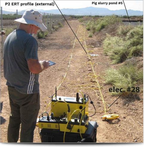 ERI Survey conducted on Pig Slurry Pond
