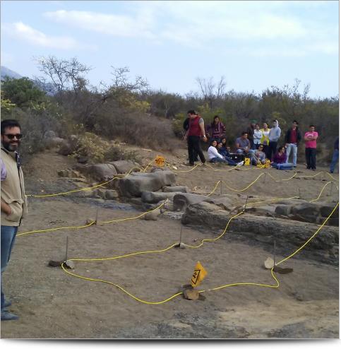 True-3D ERI survey over a dioritic dike intruding shale