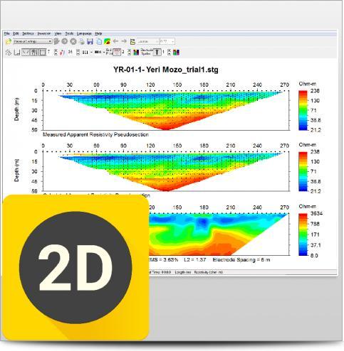 Software de Inversión y Modelado AGI EarthImager 2D