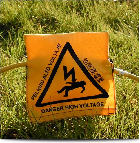 Electrical Resistivity Imaging High Voltage Warning Cover...Safety First!
