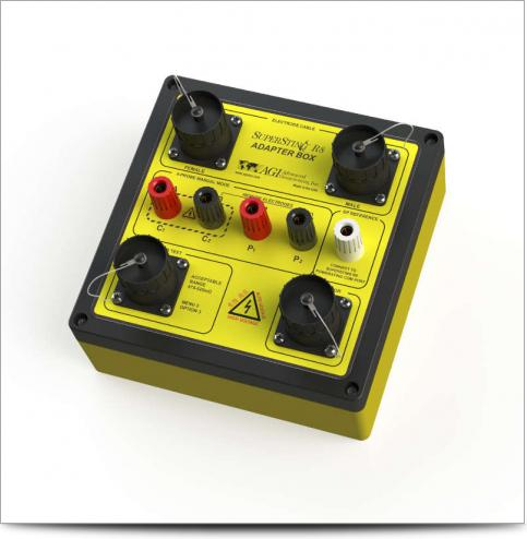 SuperSting R8 Instrumento de Resistividad Caja Adaptadora