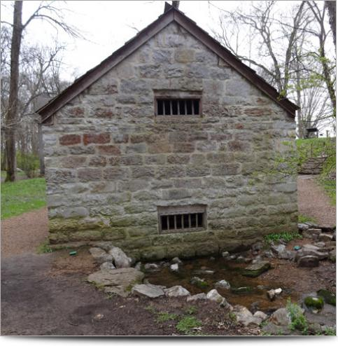 AGI Case History - Hermitage Springhouse - Back of the Springhouse