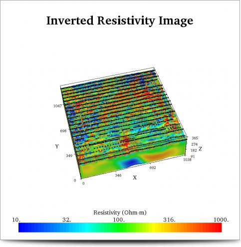 21 Combined lines 3D Resistivity Inversion Results