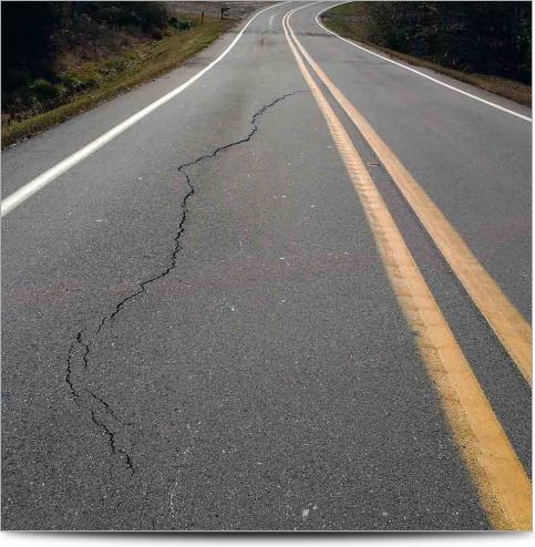 AGI Case History - Ozark Landslide - Cracked Road