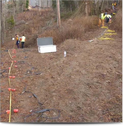 AGI Case History - Ozark Landslide - Survey Line
