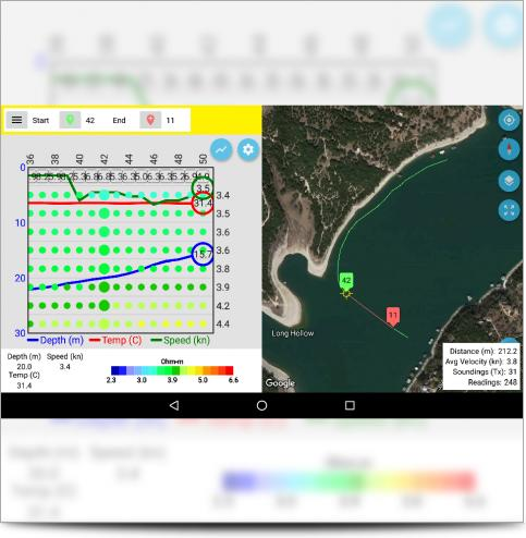 The SuperSting Manager App Marine Survey Controller