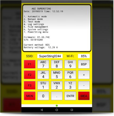 The SuperSting Remote Controller on Android Tablet