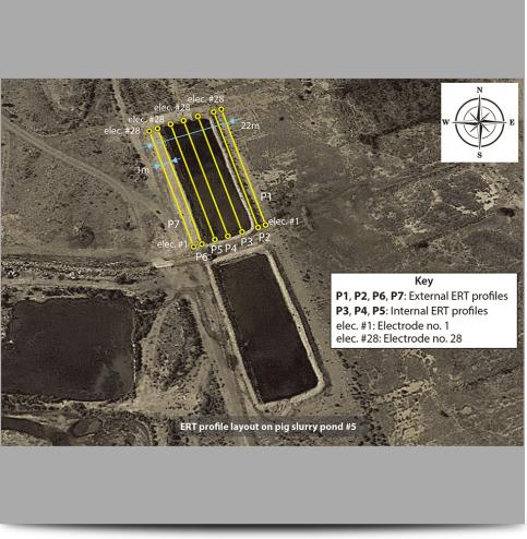 Pig Slurry Pond Survey Lines