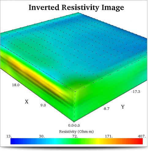Manantial Comal, Imágen Electrica 3D de Fracturas en Karst.